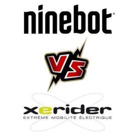 Article comparatif Ninebot Max Versus Xerider E-Flex, Trottinette électrique bridée à 25 km/h, Assurance trottinette électrique,