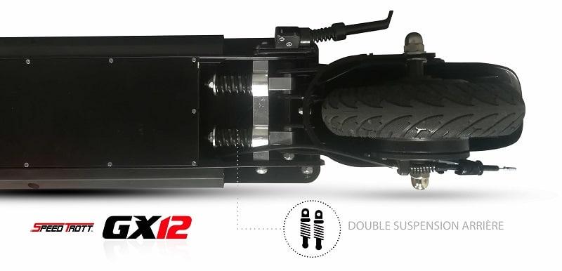 Trottinette électrique Speedtrott GX-12 suspension arrière