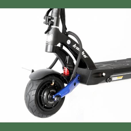 Trottinette électrique Kaabo Mantis 8 Origin Bleu et noir roue avant