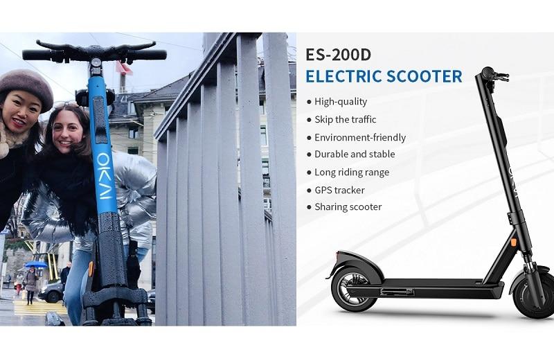 Trottinette électrique OKAI 200D, OKAI, OKAI 200D, Trottinette électrique adulte, Trottinette électrique bridée